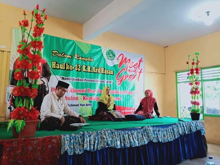 Menumbukan Semangat Literasi Santri, Alumni PP Roudlatun Nasyi'in hadirkan Khlima Anis